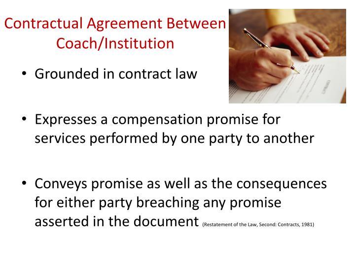 Contractual Agreement Between Coach/Institution