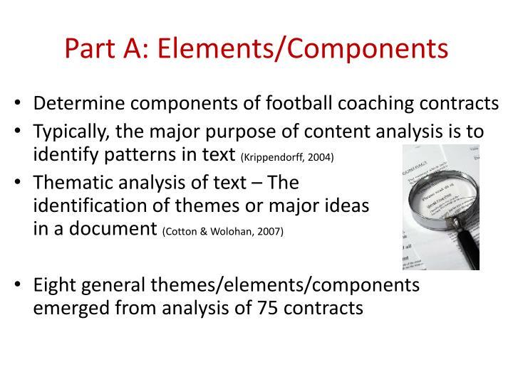 Part A: Elements/Components