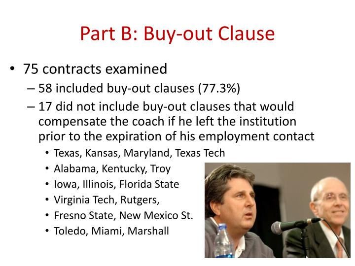 Part B: Buy-out Clause