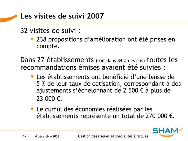 Les visites de suivi 2007