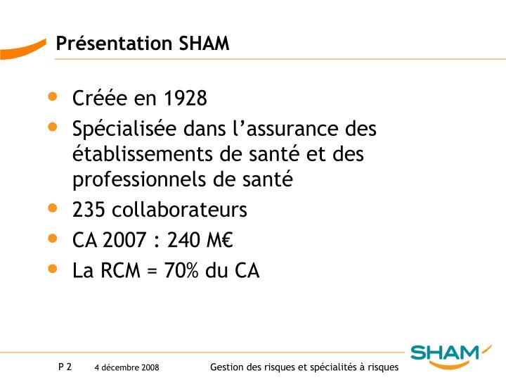 Présentation SHAM