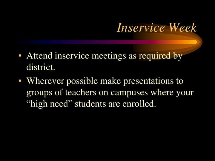 Inservice Week