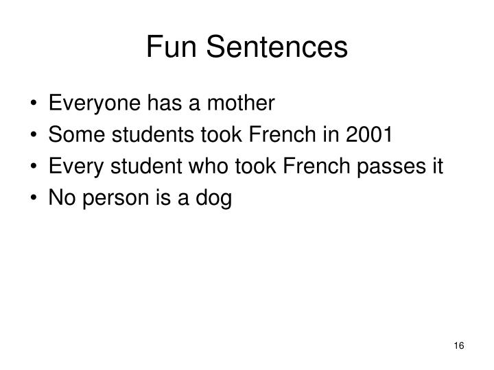 Fun Sentences