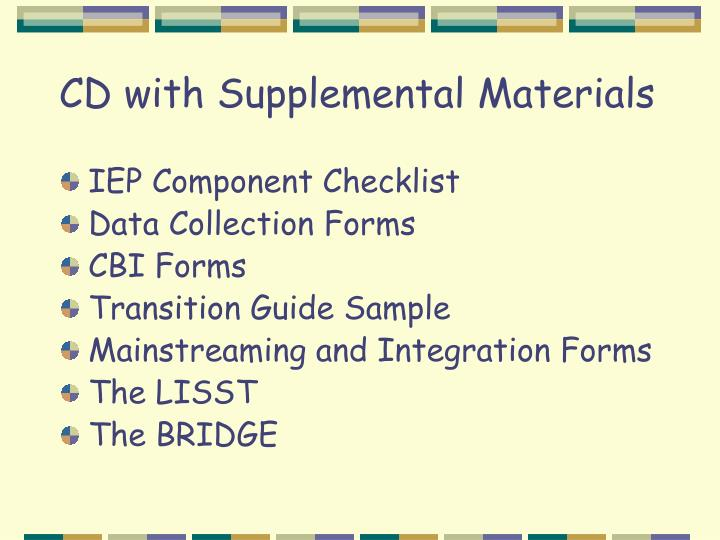 CD with Supplemental Materials