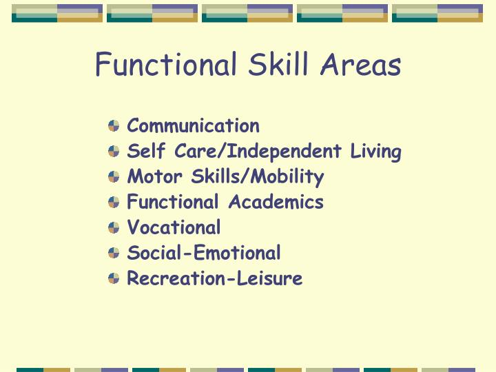 Functional Skill Areas