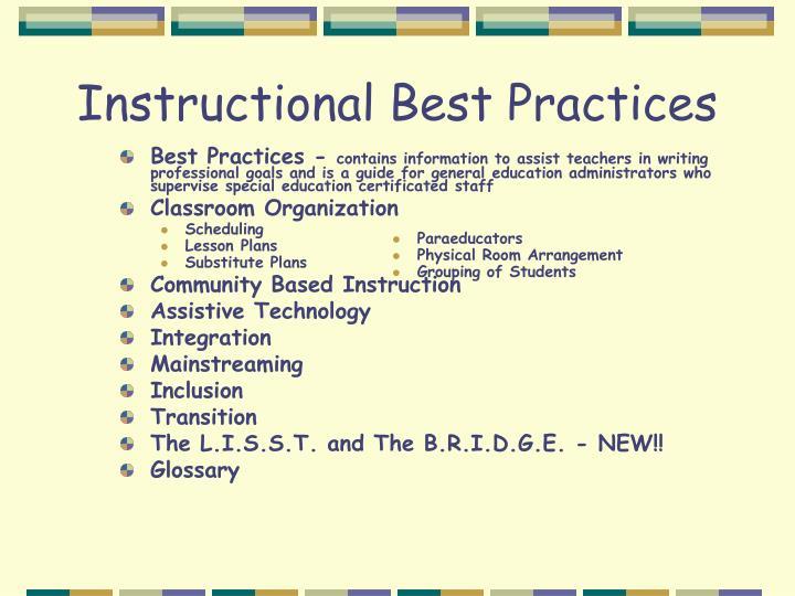 Instructional Best Practices