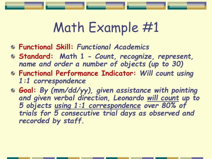 Math Example #1