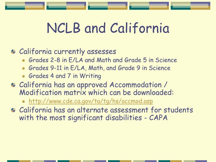 NCLB and California