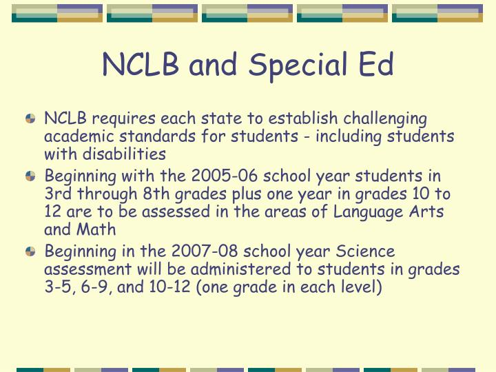 NCLB and Special Ed
