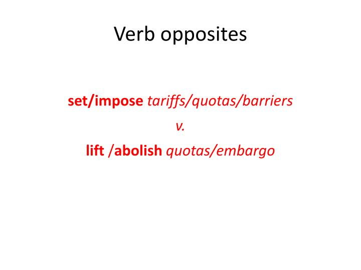 Verb opposites