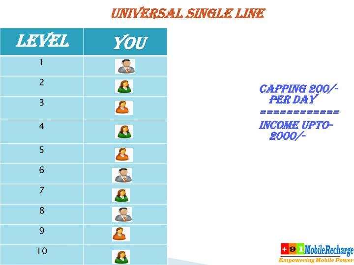 UNIVERSAL SINGLE LINE