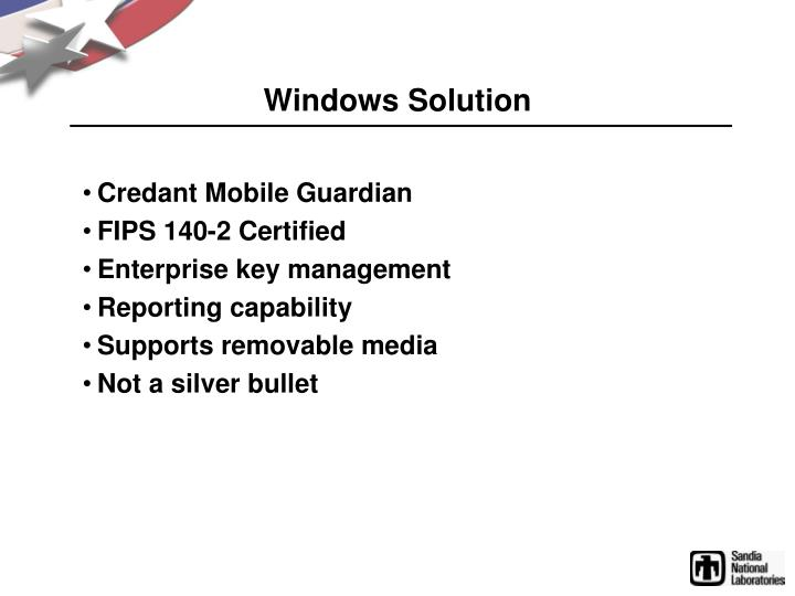 Windows solution