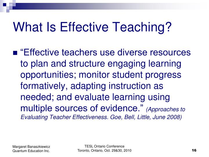 What Is Effective Teaching?
