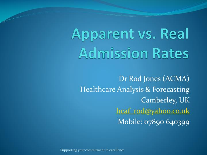Apparent vs real admission rates