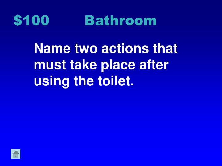 $100 Bathroom