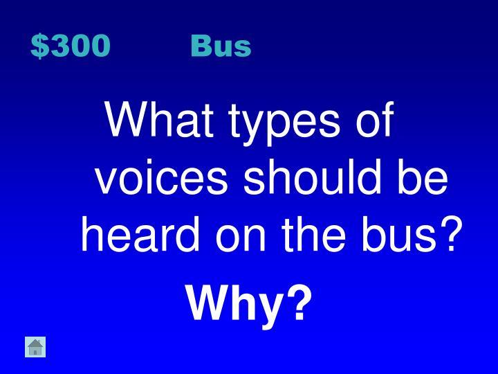 $300 Bus