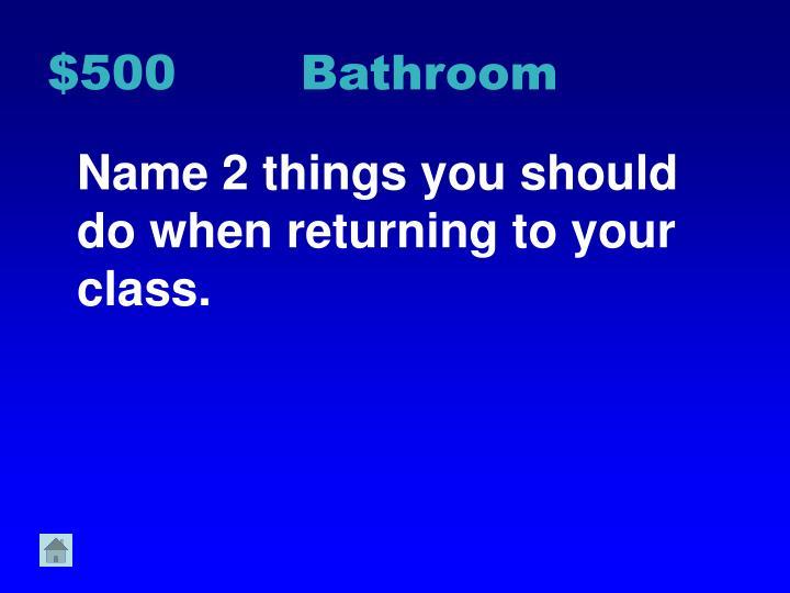 $500 Bathroom