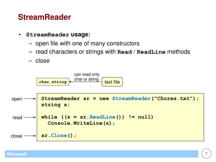 StreamReader