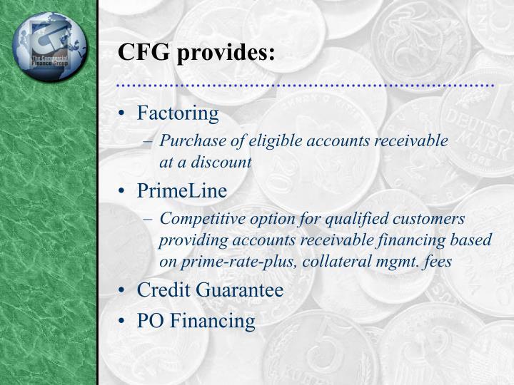 CFG provides: