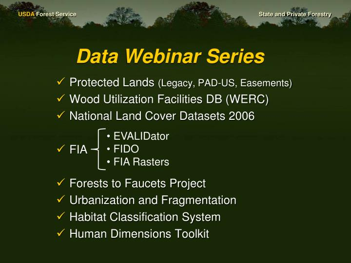 Data Webinar Series