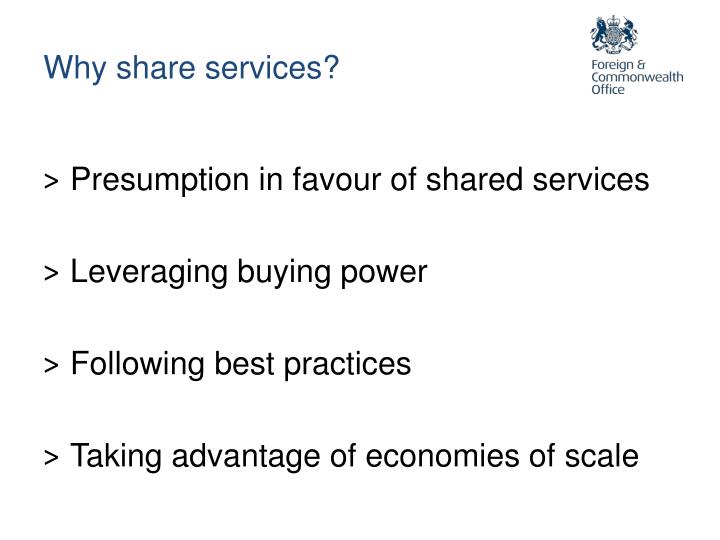Why share services?