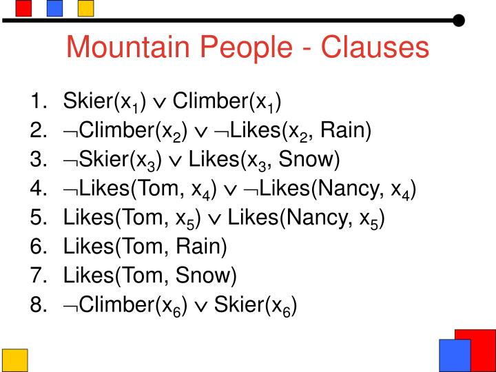 Mountain People - Clauses
