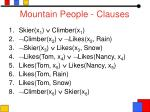 mountain people clauses