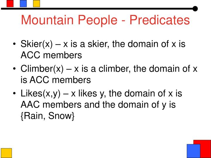 Mountain People - Predicates