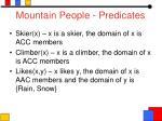 mountain people predicates