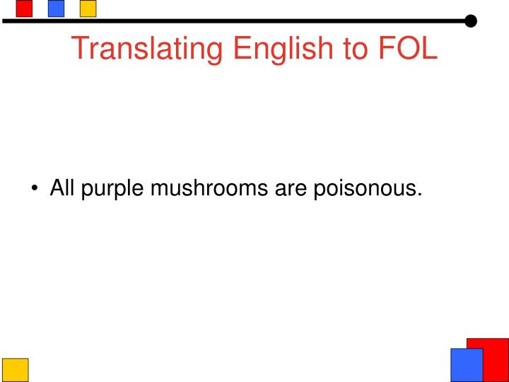 Translating English to FOL