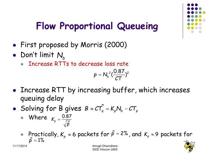 Flow Proportional Queueing