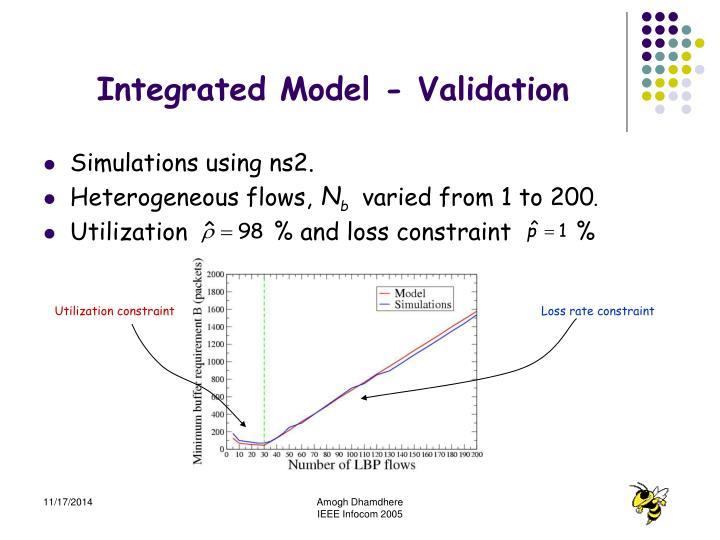 Integrated Model - Validation