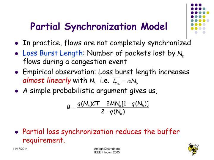 Partial Synchronization Model