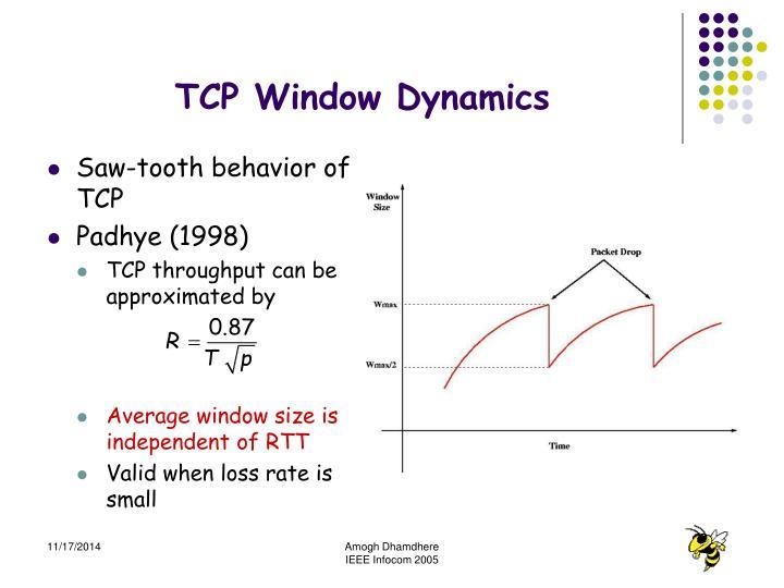 TCP Window Dynamics
