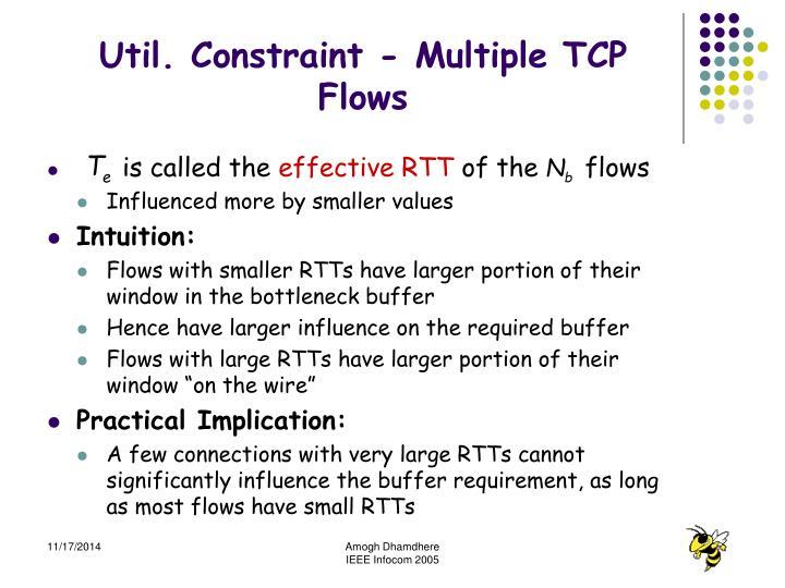 Util. Constraint - Multiple TCP Flows