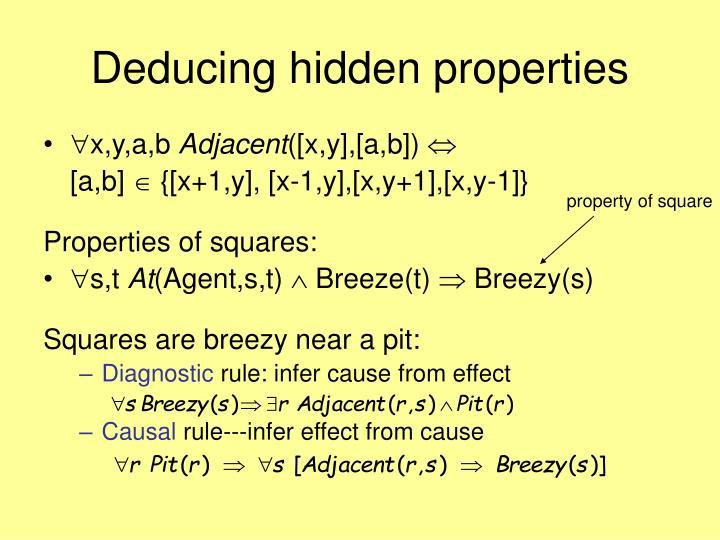 Deducing hidden properties