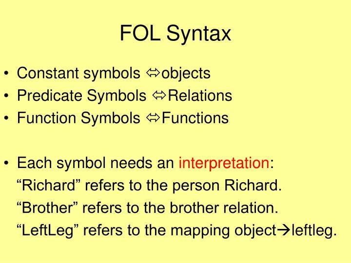 FOL Syntax