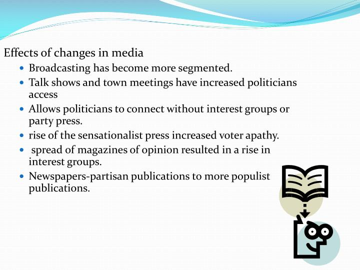 Effects of changes in media