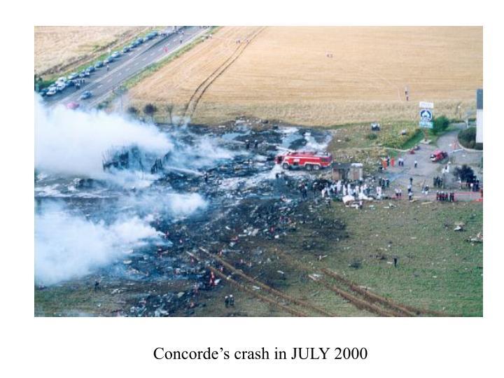 Concorde's crash in JULY 2000
