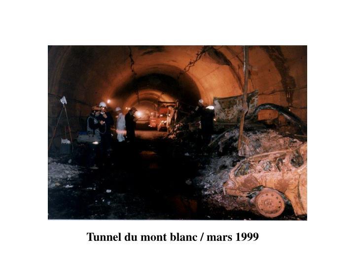 Tunnel du mont blanc / mars 1999