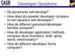 developer questions