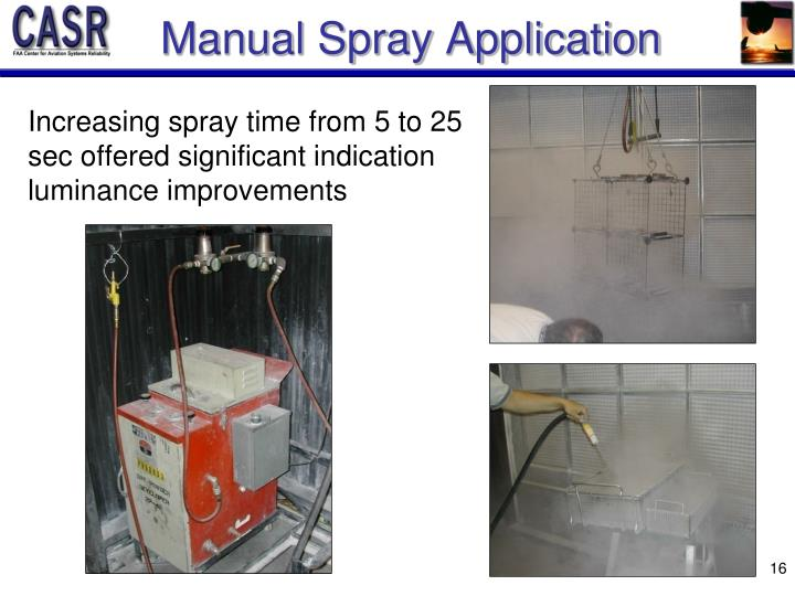 Manual Spray Application