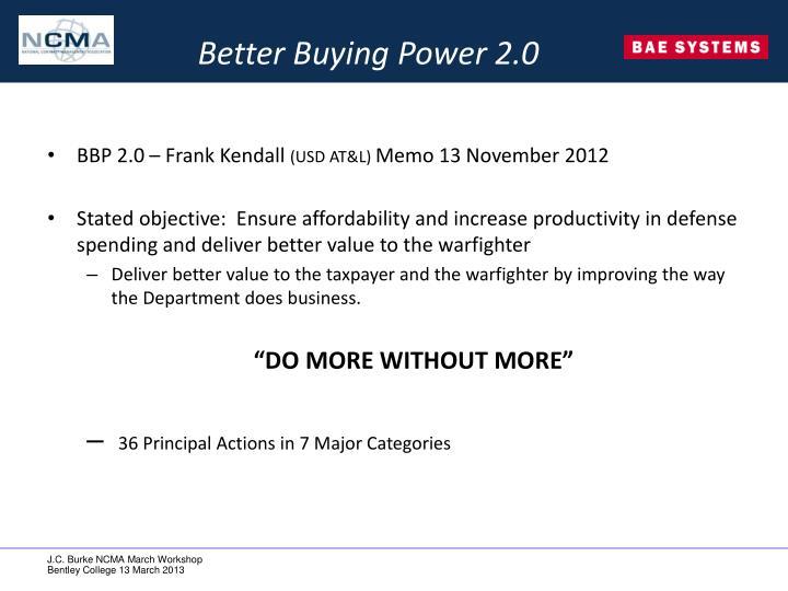 Better Buying Power 2.0