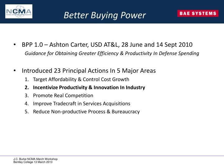 Better Buying Power