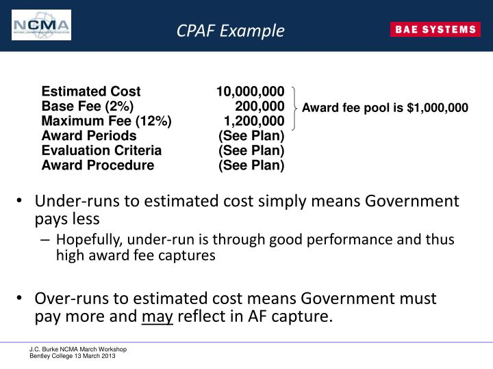 CPAF Example
