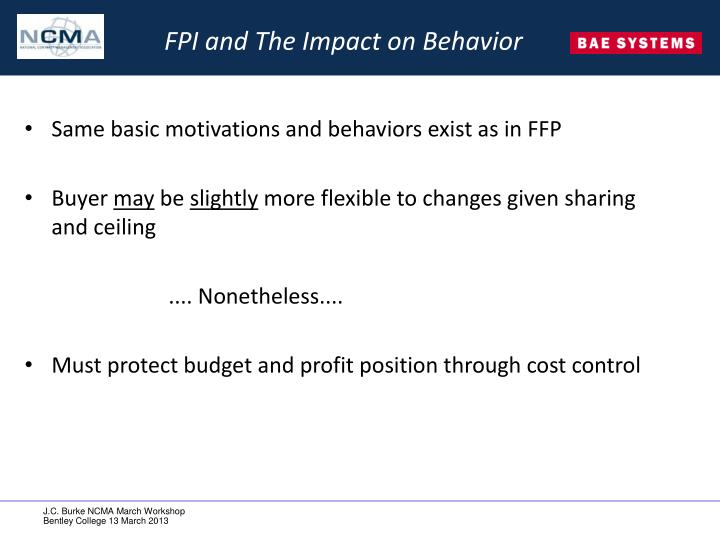 FPI and The Impact on Behavior