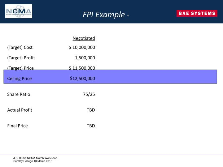 FPI Example -