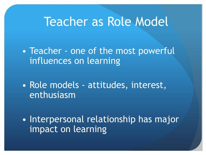 Teacher as Role Model