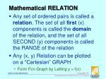 mathematical relation