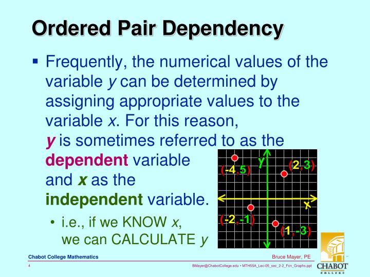 Ordered Pair Dependency